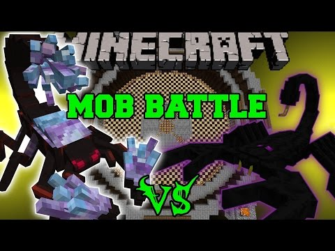 CRYSTAL SCORPION VS EMPEROR SCORPION & KING KONG - Minecraft Mob Battles - Mods