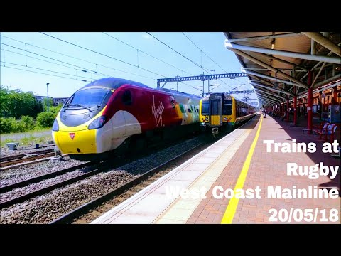 Sunday Service Trains at Rugby, WCML | 20/05/18