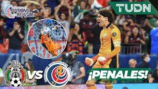 Tanda de penales ¡A LA FINAL!   México (5)-(4) Costa Rica   Nations League Semifinal   TUDN