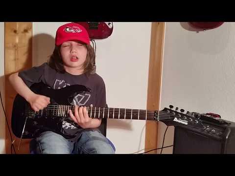 "Dustin Tomsen 12 years old covers Michael Angelo Batio ""No Boundaries"""