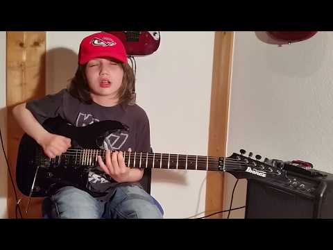 Dustin Tomsen 12 years old covers Michael Angelo Batio