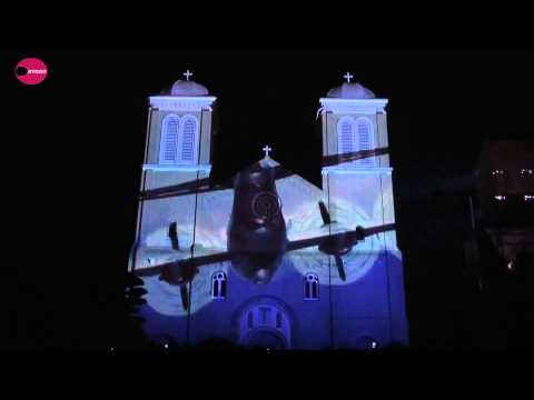 Japan: Video projected on Nagasaki cathedral tells of phoenix-like rise from ashes of A-bomb