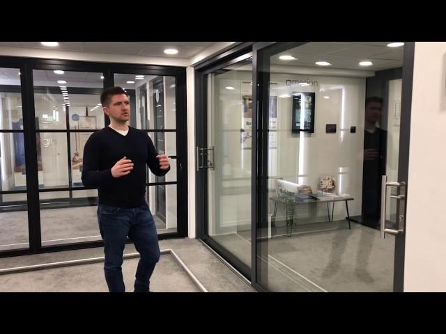 Cherwell Windows showroom tour - Origin global 77mm sliding door
