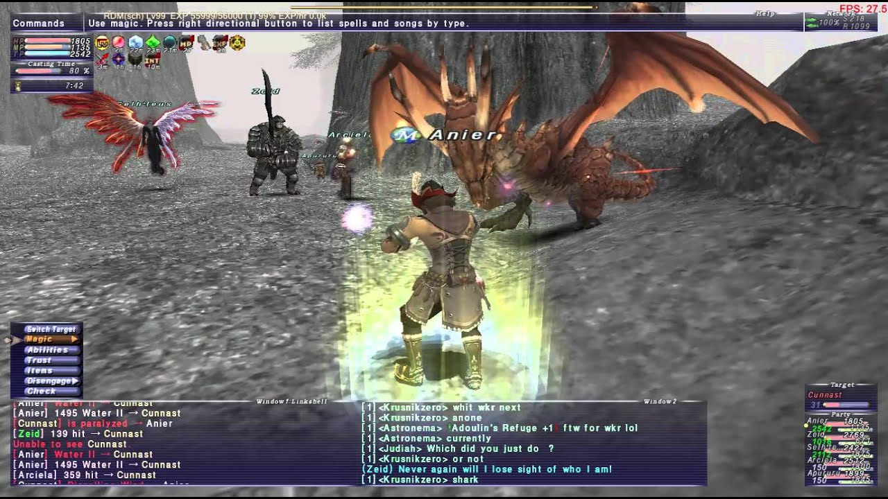 FFXI Cunnast RDM Solo(With Trust)