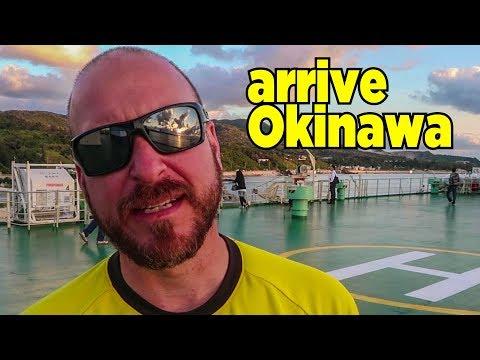 Arriving Okinawa by ferry | Some Amazing Okinawa food