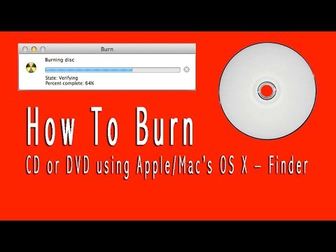 How to burn a CD or DVD using Apple Mac OSX Finder
