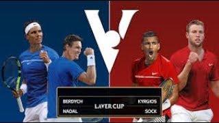 【テニス】ナダル/ベルディヒ組vsキリオス/ソック組 レバーカップ2017