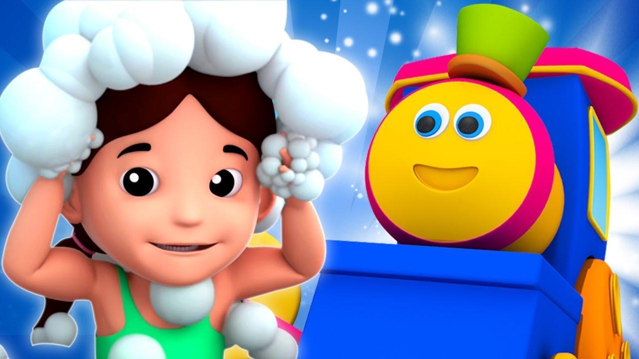 เด็กอาบน้ำเพลง | เพลงบ๊อบรถไฟ | เพลงกล่อมเด็ก | Baby Bath Song | Bob Train | Nursery Rhymes For Kids