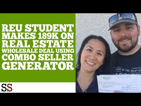 REU Student Makes 189K On Real Estate Wholesale Deal Using Combo Seller Generator
