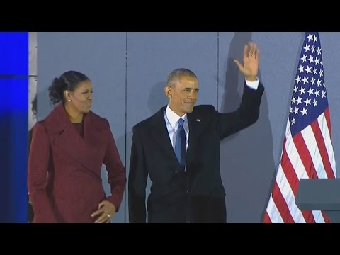 Obama bids adieu to Washington