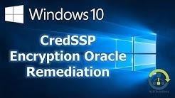 Workaround for Remote Desktop CredSSP authentication error