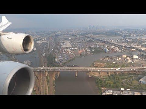 Lufthansa Airbus A340-600 - spectacular landing at Newark Liberty International Airport