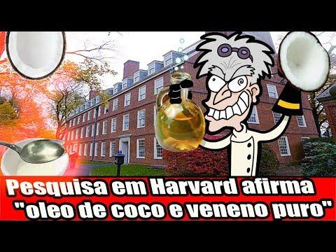 """Pesquisa em Harvard afirma """"óleo de coco e veneno puro"""""""