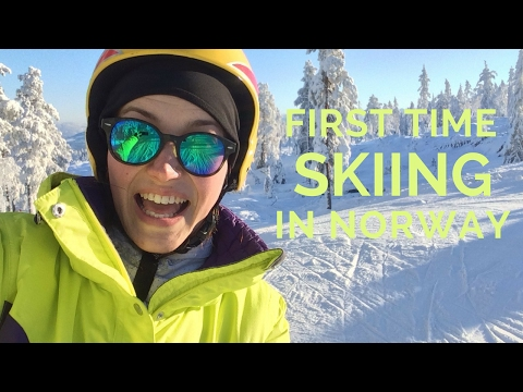 First time skiing in Norway, Kongsberg | 2017