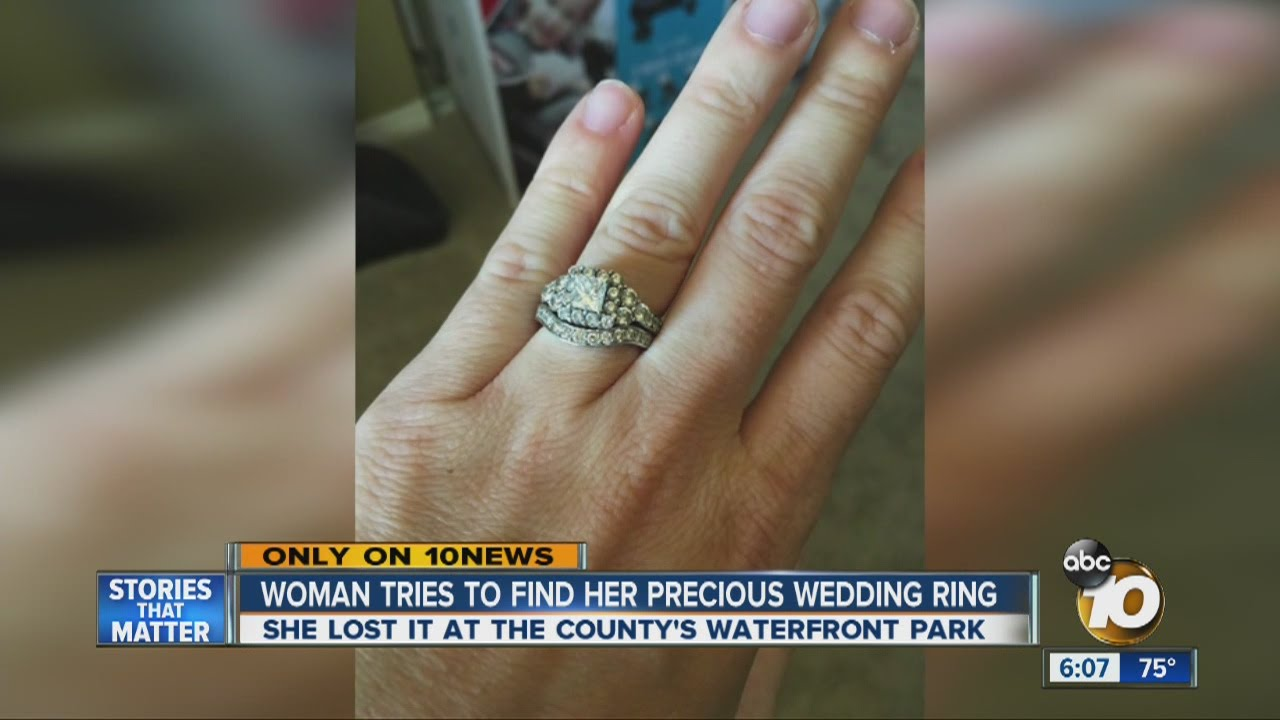 Woman Tries To Find Precious Wedding Ring Lost At Local Park