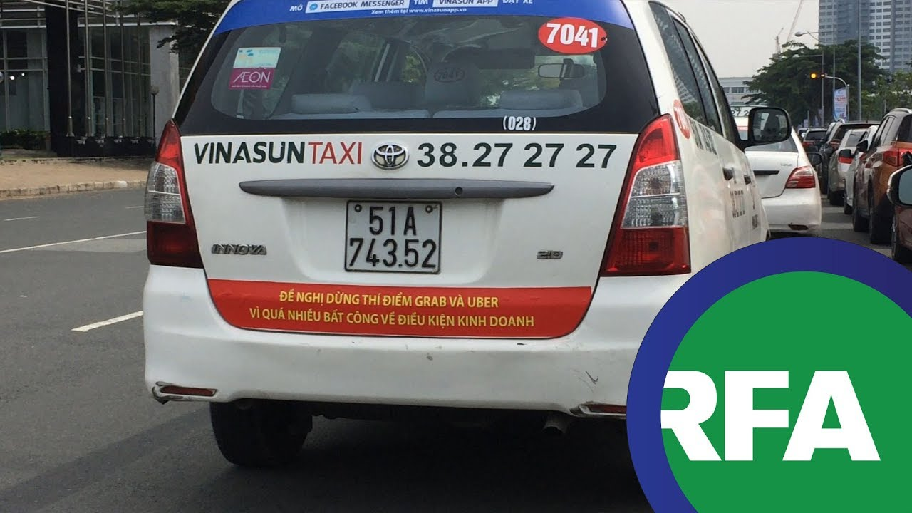Taxi Vinasun triệt đường sống của Uber và Grab?! | © Official RFA