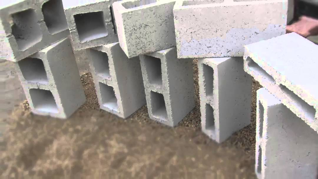Hollow concrete building blocks in accra youtube for Cinder block house construction