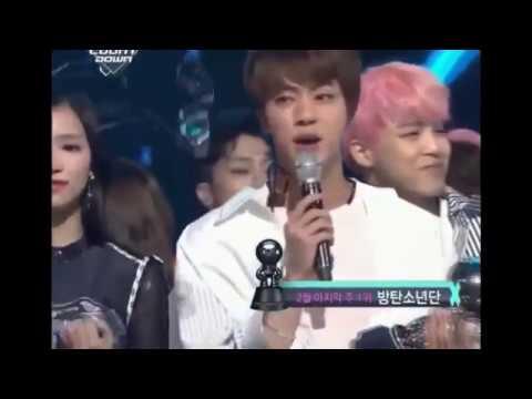 170223 BTS Jin And Twice Mina Sana Moment/ M Countdown