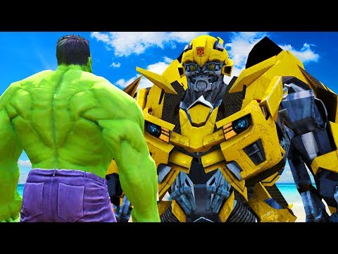 THE HULK VS BUMBLEBEE (Transformers) - EPIC BATTLE