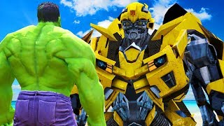 THE HULK VS BUMBLEBEE (Transformers) - EPIC BATTLE