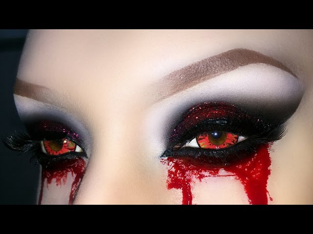 Sexy Vampire Demon Zombie Witch Smoky Eyes With Glitter