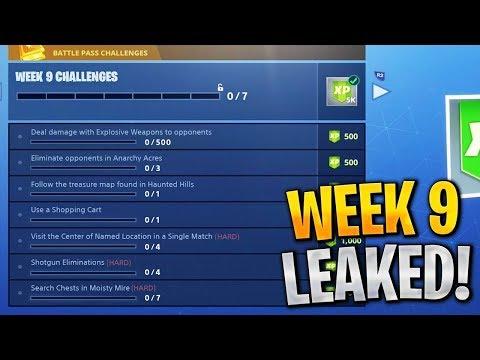 Fortnite Week 9 Challenges LEAKED! Fortnite Season 4 Battle Pass Week 9 ALL CHALLENGES!