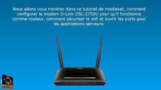 Configuration du modem D-LINK DSL-2750U - En Français