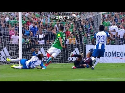 MEXICO VS HONDURAS 3 -  0 Eliminatorias Rusia 2018 08 JUN 2017