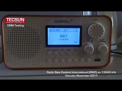 Tecsun Radio Australia DRM Shortwave Testing - RNZI in Port Villa