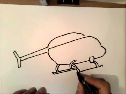 Как нарисовать вертолет карандашом поэтапно для детей