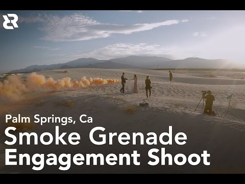 Smokebomb Engagement Photoshoot in Palm Springs Ca (Shot on DJI Osmo)