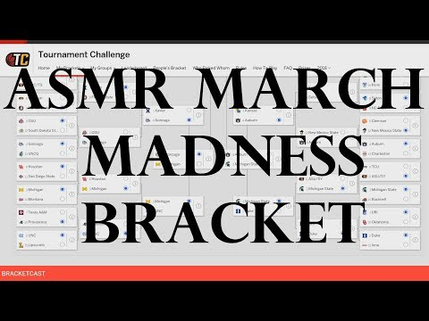 ASMR Sports: 2018 March Madness Brackets - (Whispered NCAA Basketball ASMR)
