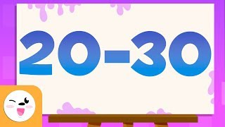 Guess the number, fŗom 20 to 30 - Educational video to learn the numbers
