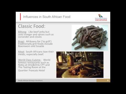 Uncover the Food and Wine of South Africa - Webinar