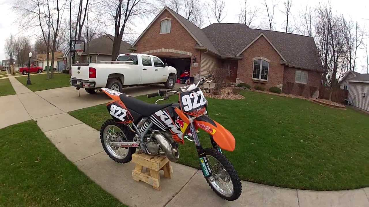 ktm 125 sx 2002 review/what to use to clean motocross bike - youtube