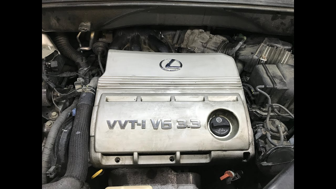 lexus rx330 high presure power steering hose replace and upper intake removal [ 1280 x 720 Pixel ]