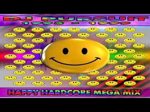DJ PURSUIT - 4 HOUR HAPPY HARDCORE MEGA MIX (1993-1999) FULL SET