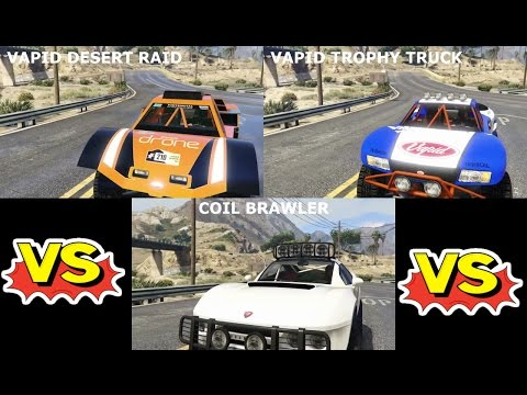GTA 5 Online | Manejo Vapid Trophy Truck, Vapid Desert Raid y BF400