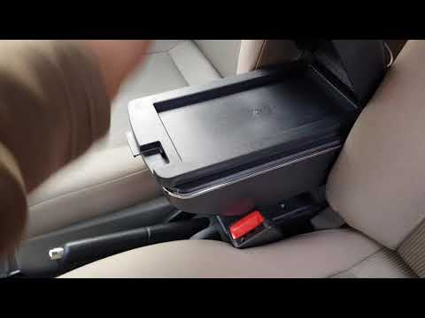 Universal Arm Rest Console Box 6 Ports Charger BLACK