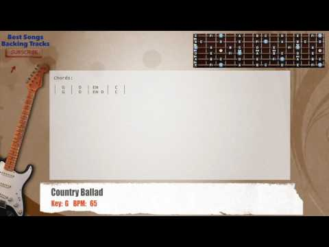 Country Ballad in G Guitar Backing Track with chords