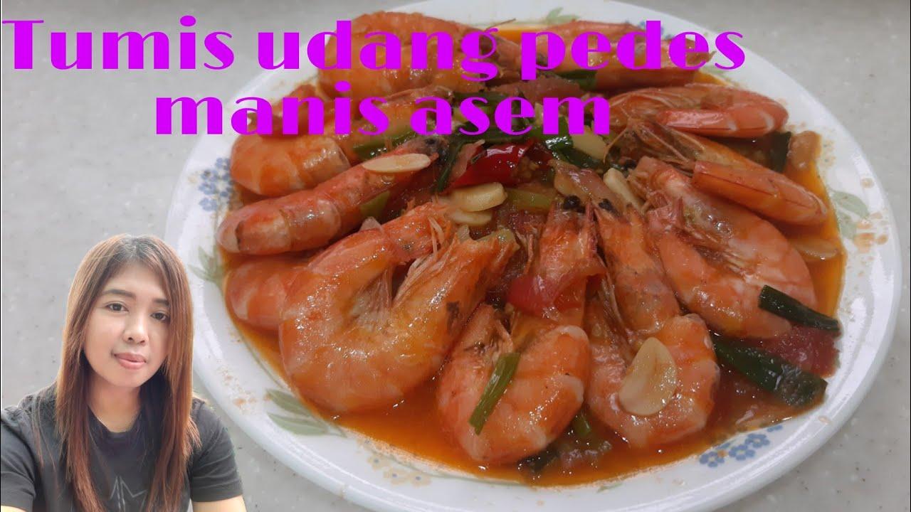 Resep Tumis  udang asam manis pedas enak dan praktis