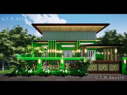 desain rumah minimalis modern tropis 1 lantai atap datar