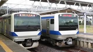 水戸線 E531系K415編成 回8725M KY出場 機器更新 友部駅着発 2020.06.22