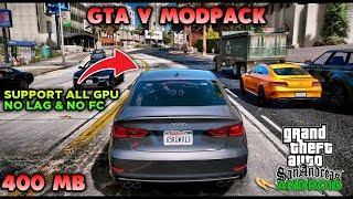 GRAFIKNYA GILA COY!! GTA SA LITE MODPACK GTA V   APK + DATA   HANYA 400 MB   SUPPORT ALL OS ANDROID