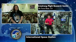 Expedition 56 Education Inflight Interview - Armstrong Flight Research Center - June 28, 2018