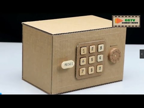 DIY handcraft Making a safe double password lock with cardboard