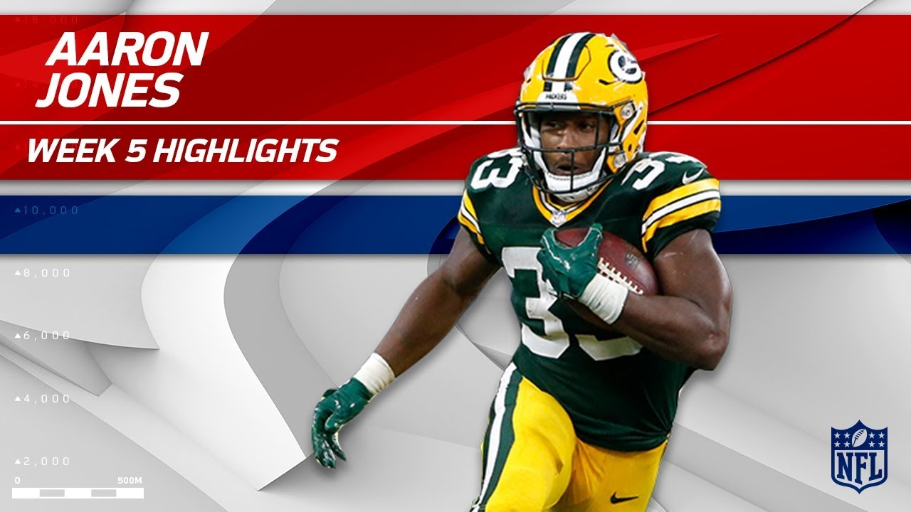 factory price e541b 9bb03 Aaron Jones' Huge Day w/ 1 TD & 125 Rushing Yards! | Packers vs. Cowboys |  Wk 5 Player Highlights
