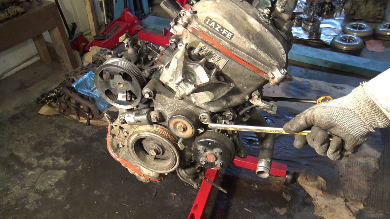 How works Toyota Rav4 VVTi drive belt tensioner Years 2000 to 2010  YouTube