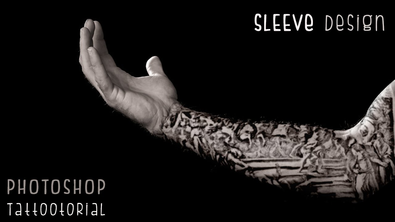 Photoshop Tutorials: Custom Tattoo Sleeve Design - YouTube