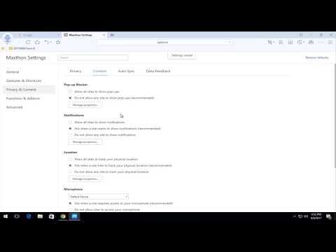 Block Pop-Ups In Maxthon Cloud Browser